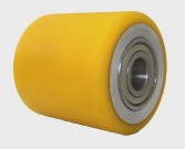 rolka aluminiowo/stalowo - poliuretanowa 80x70 mm