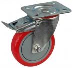koło tworzywo / poliuretan fi 75 obudowa skrętna hamulec 100 kg
